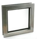 Edelstahl-Fenster quadratisch mit gehärtetem Glas für Garagentore.